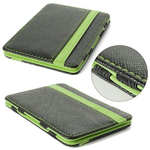 DP eu Portafoglio Magico in simili cuoio - magic wallet Credit Card Holder - porta moneta - Verde