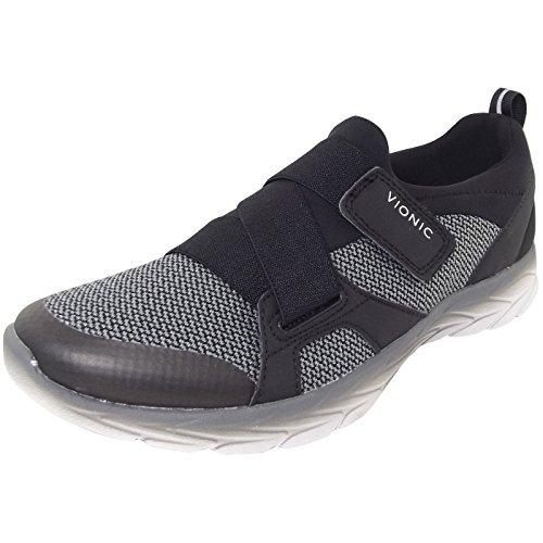 Vionic Women's Brisk Dash Slip-on Sneaker Black Charcoal 9M