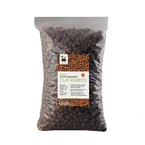 xGarden 2 lbs LECA Expanded Clay Pebbles - Horticultural Grade for Soil Hydroponics Aquaponics