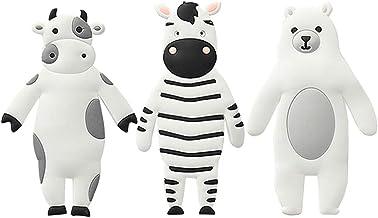 IMIKEYA Wall Hooks Key Holder Zebra Cow Bear Shaped Hooks Towel Hooks Rack Wall Mounted Decorative Hooks Nursery Room Hook...