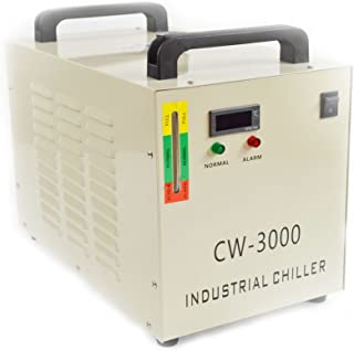 9L 110V CW-3000 Thermolysis Industrial Water Chiller for 60/80W CO2 Glass Tube