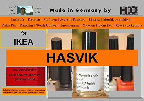 Lápices de coloures de retoques touch-up-pen for IKEA brilliant Hasvik - red