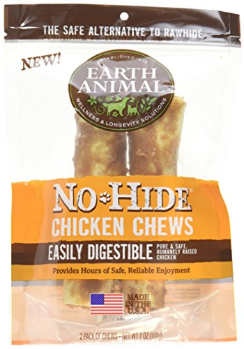 Earth Animal No-Hide Wholesome Dog Chews - Medium (Chicken, Medium (2 per bag))