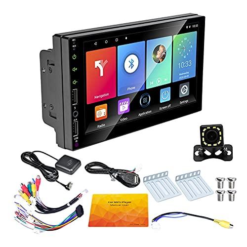 Kaxofang 2 DIN GPS per Auto Autoradio 7 Pollici Android 9.1 Car Multimedia WiFi Player MP5 Ricevitore per con Fotocamera Un 12 LED