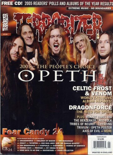 Terrorizer Magazine 140 OPETH POSTER Fear Candy CD 24 DRAGON FORCE Celtic Frost VENOM January 2006 C (Terrorizer Magazine)