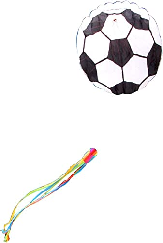 Cerfs-volants Caixia de Football Souple, Grand de Jeune Adulte, Brise Facile à Voler Jouets de Bord de mer (Couleur   Noir, Taille   800m Line)