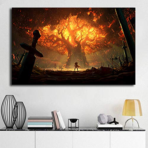 yhyxll World of Warcrafts Battle for Azeroth Sfondi HD Stampe su Tela Stampe Arte murale Pittura Immagine Decorativa Decorazione Domestica 40X70CM