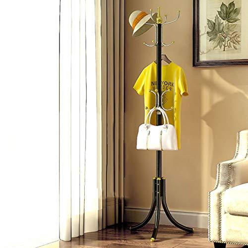 POETRY Shelf kleerhanger kledingrek opberghaak ijzer legering metalen standaard zwart geel 180 * 55cm (kleur: zwart Athene)