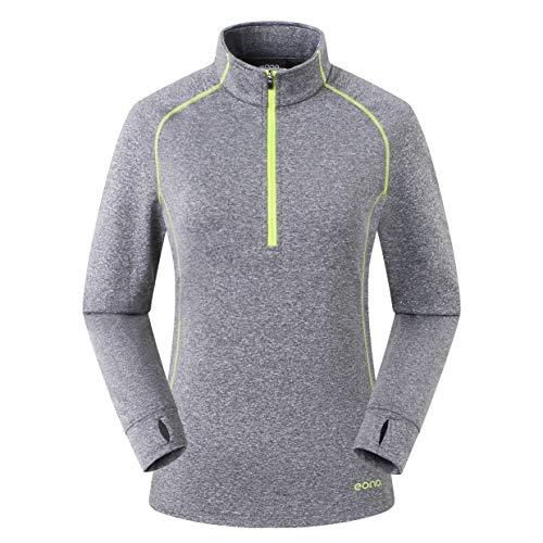 Amazon Marke: Eono Essentials Leichtes Damen-Fleeceshirt aus hochelastischem Gitter-Fleece - Small, Schattengrau