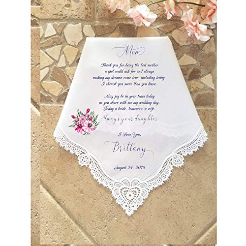 Personalized Mother of the Bride Handkerchief