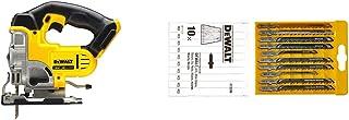 DEWALT DCS331N-XJ XR Lithium-Ion Jigsaw, 18V, 9.53cm x 9.45cm x 6.06cm, Yellow/Black & DT2290-QZ DT2290-QZ-Conjunto 10 hoj...