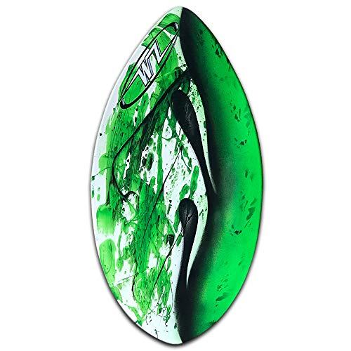 """Wave Zone Squirt - 36.5"""" Fiberglass Skimboard for Beginners up to 90 lbs - Green (Board Only)"""