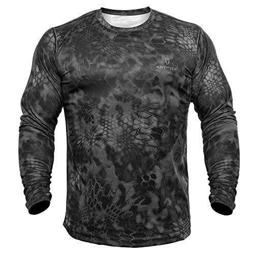 Kryptek Hyperion Ls Crew T-Shirt pour Homme XL Typhon