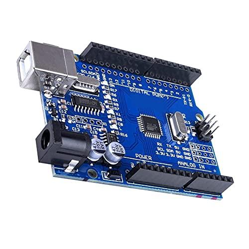 Placa de desarrollo ATmega328P CH340 Microcontrolador Módulo USB Interfaz con Cable Nuevo