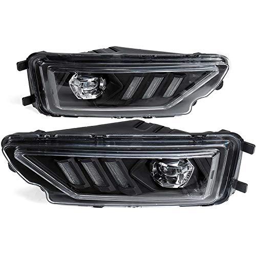 WPFC Frontstoßstange Nebelscheinwerfer Blinker-Leuchtmittel LED Tagfahrlicht Tagfahrlicht Für VW Amarok Pickup 2016+