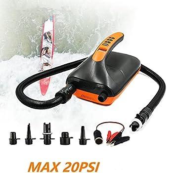 Zerrale Pompe à air électrique, pompe à haute pression SUP 20 PSI intelligente, double étape et fonction d'arrêt automatique pour planches de stand up paddle, bateaux gonflables, lit gonflable