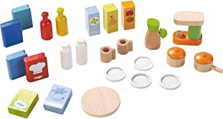 HABA Little Friends Dollhouse Kitchen Accessories - 24 Piece Set for 4