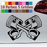 Generic Kolben Aufkleber Piston Power Car GTI Tuning Auto JDM Sticker 18 Farben 5 Größen