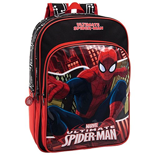 MARVEL Spiderman Set de Sac Scolaire, 40 cm, 15.6 L, Rouge 44524A1