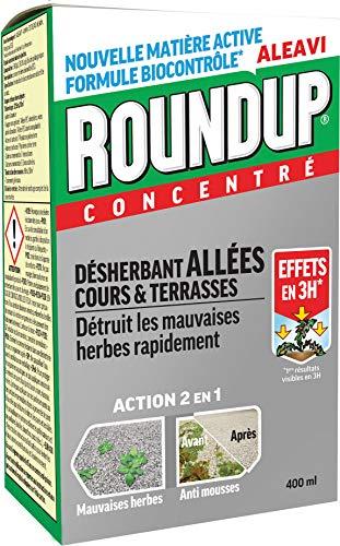 Roundup Désherbant Allées Cours et Terrasses Concentré, 400ml