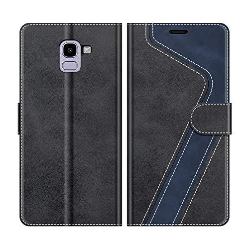 MOBESV Custodia Samsung Galaxy J6 2018, Cover a Libro Samsung Galaxy J6 2018, Custodia in Pelle Samsung Galaxy J6 2018 Magnetica Cover per Samsung Galaxy J6 2018, Elegante Nero