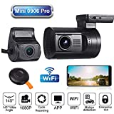 Blueskysea Mini 0906 PRO Dual Lens 1080P Dash Cam Front and Rear Dash Camera WiFi GPS Car Camera Recorder Sony IMX327 Loop Recording Night Vision