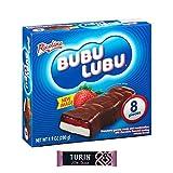 Bubulubu Chocolates Marshmallow Coated   8 Bars of Bubu Lubu Chocolate Filled with Strawberry Jelly for Kids Plus 1 Cocoa Bar