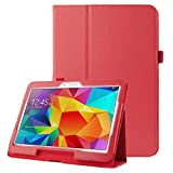 ALLSHOPSTOCK (#52) Litchi Texture Flip Leather Case with Holder for Compatible with : Galaxy Tab 4...