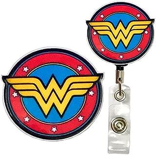 Superhero Real Charming Retractable Heavy Duty Belt Clip Metal ID Badge Holder Badge Reel (Wonder HD)