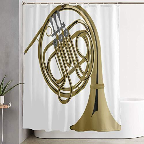 VINISATH Cortinas de Ducha,Orquesta de Viento de Corno francés,Cortina de baño Decorativa para baño,bañera 180 x 180 cm