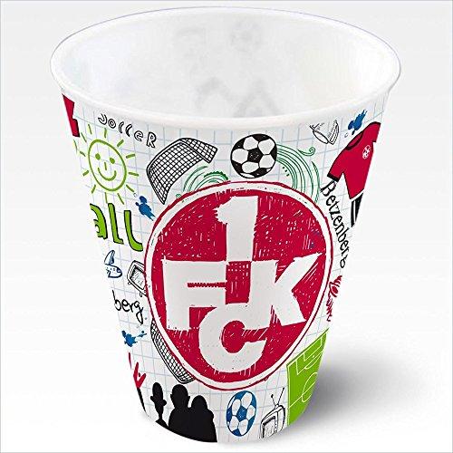 1. FC Kaiserslautern 1. FCK Plastikbecher 3D Kritzel 2er-Set