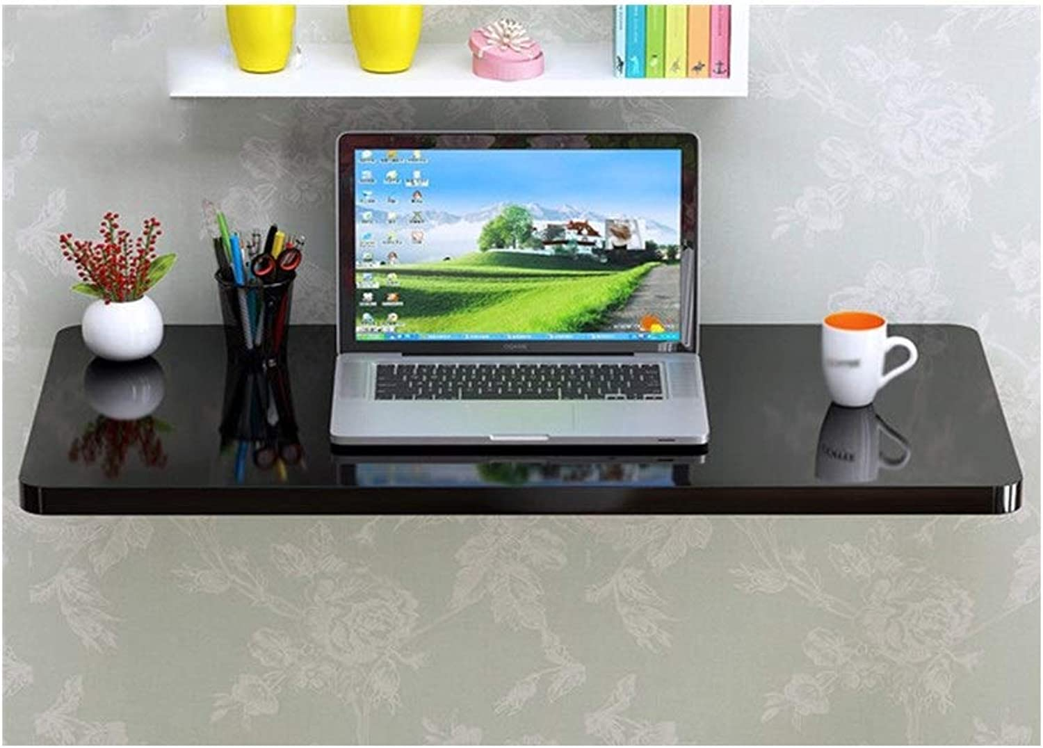 LQQGXLPortable Folding Table Simple Wall-Mounted Computer Desk, Folding Table Meal, Multi-Functional Table, (Size   7040cm)