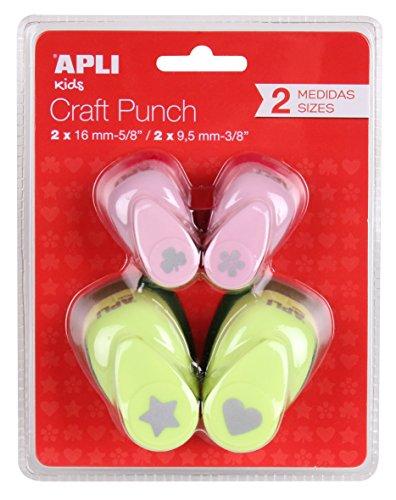Apli Kids 13988 -Pack Perforadoras Surtidas 16 mm