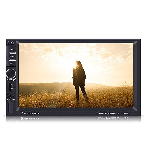 7HD Touchscreen Bluetooth Auto MP5 Player FM Radio GPS AUX Fernbedienung R/ückfahrkamera Elerose 2 Din Autoradio