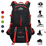 Huwaijianfeng Hiking Backpack Water-Proof Backpack Outdoor Sport Daypack with a Rain Cover for Climbing Mountaineering Fishing Travel Cycling, 50 L