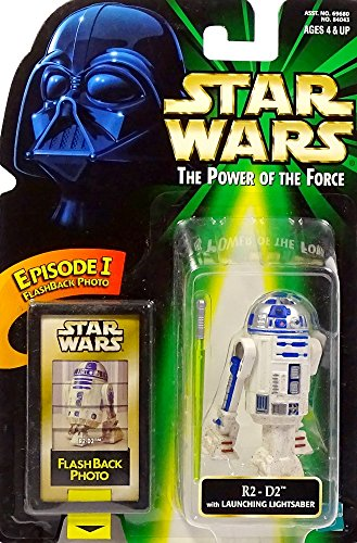 Hasbro R2-D2Droid with Launching Lightsaber & Flash Back Photo–Star Wars Power of The Force Collection iniciados.