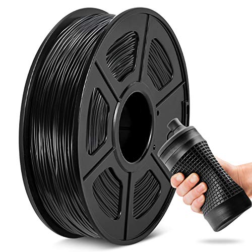 Filamento TPU 1,75 mm, JAYO flexible para impresora 3D TPU Shore 95A, carrete de 0,5 kg TPU negro, precisión dimensional +/- 0,02 mm