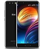 Blackview P6000 - 5.5 pulgadas FHD pantalla Android 7.0 4G Smartphone, MTK6757CD Octa Core 2.6GHz 6GB + 64GB, delgado con batería de 6180mAh carga rápida, reconocimiento de rostros, negro