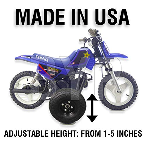 BYP_MFG_INC Adjustable Height Yamaha PW50 PW 50 Kids Youth Training Wheels ONLY