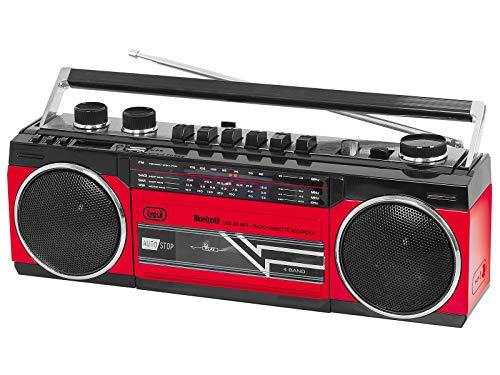 GRABADORA DE Radio Cassette con Bluetooth TREVI RR 501 BT Rojo
