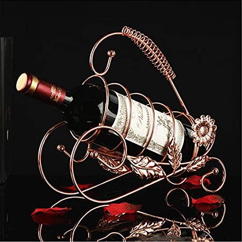 Lzcaure Estante de vino retro vino champán botella titular accesorios vino decoración para el hogar cocina bar