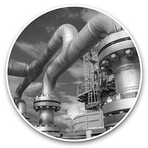 Impresionantes pegatinas de vinilo (juego de 2) 25 cm bw – Calcomanías divertidas para la producción de petróleo y gas en alta mar para portátiles, tabletas, equipaje, reserva de chatarras, frigoríficos, regalo fresco #43292
