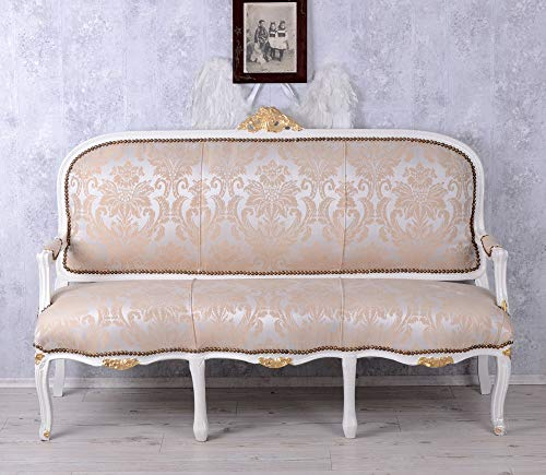 Französische Recamiere Barockes Sofa Salonsofa Weiss Sitzbank Barock Palazzo Exclusiv