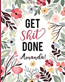 Get Shit Done Amanda! 2020 Planner Weekly and Monthly