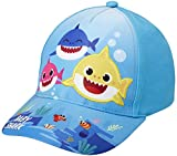 Nickelodeon Toddler Boys' Baseball Cap Baby Shark Curved Brim Snap-Back Hat, Size Ages 2T-4T, Baby Shark