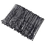 Horquillas de pelo negro con clip para el pelo para niñas y mujeres, decoración de peinado con caja de almacenamiento (100 unidades)