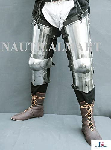 NauticalMart SCA Combat Leg Armor pole with Legs National Sales results No. 1 uniform free shipping cuisses Plate
