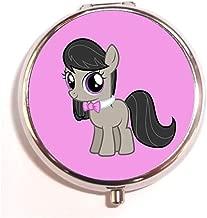 A Homim Octavia Melody - My Little Pony Custom Round Silver Pill Box Pocket Medicine Tablet Holder Organizer Case for Purse