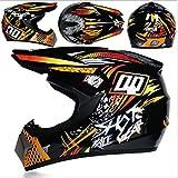 ZCAYIN Motocross/Mountainbike/Rennsport/Kart/Schneemobilhelm/Schneehelm, D.O.T Helme von Geländefahrzeugen für Kinder und Erwachsene, Sonnenblende Helm für Männer und Frauen