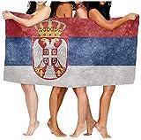 Strandtücher,Sand Proof Quick Dry Reisetuch Serbien Flagge Badetuch Body Wrap Für Gym Strandtuch 80×130cm